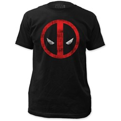 Deadpool - Mens  Distressed Logo Fitted T-Shirt