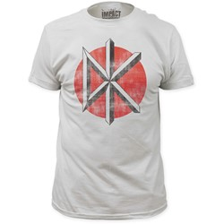 Dead Kennedys - Mens  Distressed Logo Fitted T-Shirt