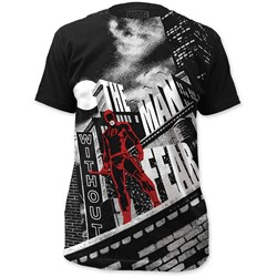 Daredevil - Mens  Without Fear Big Print Subway T-Shirt