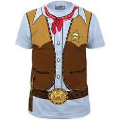 Impact Originals - Mens  Cowboy Big Print Subway T-Shirt