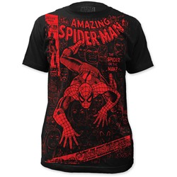 Spider-Man - Mens  Spider Or The Man Big Print Subway T-Shirt