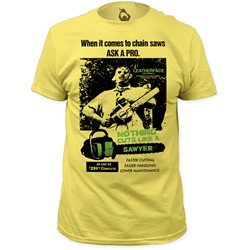 Texas Chainsaw Massacre - Mens  Cuts Like A Sawyer Fitted T-Shirt
