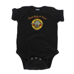 Guns N Roses - Sweet Child Onesie Babywear In Black