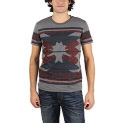 Scotch & Soda - Mens Yarn-dyed Intarsia T-Shirt in Aztec print