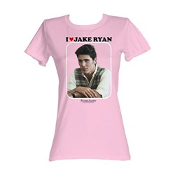 Sixteen Candles - I Love Jake Ryan Womens T-Shirt In Light Pink