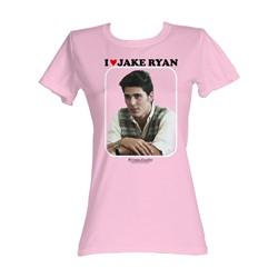 Sixteen Candles - I Love Jake Ryan Womens T-Shirt In Light Pink