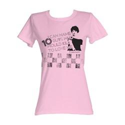 Sixteen Candles - 10 Guys Womens T-Shirt In Light Pink
