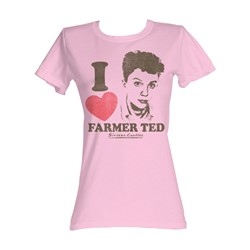 Sixteen Candles - I Heart Ted Womens T-Shirt In Light Pink