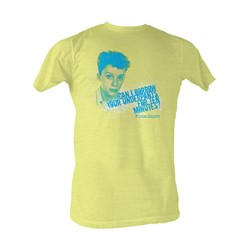 Sixteen Candles - Can I Borrow Mens T-Shirt In Bright Yellow Heather