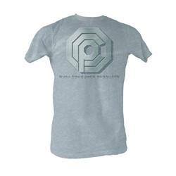 Robocop - Ocp Logo Mens T-Shirt In Grey Heather