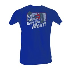Rocky - Beat The Meat Mens T-Shirt In Navy