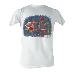 Rocky -  Vs Apollo Painting Mens T-Shirt In White