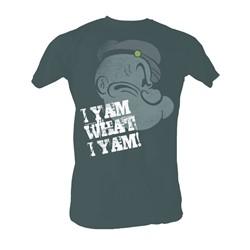 Popeye - Profile I Y'Am Mens T-Shirt In Black