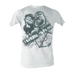 Popeye - Iron Arm Mens T-Shirt In White
