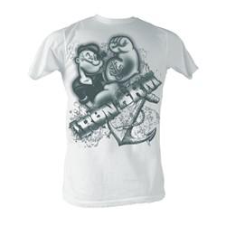 Popeye - Iron Arm Mens T-Shirt In White