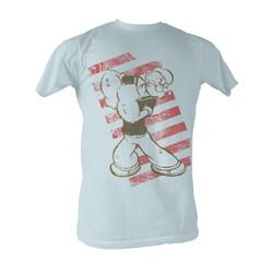 Popeye -  Stripes Mens T-Shirt In Silver