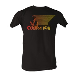 Karate Kid, The - Retro Cobra Kai Mens T-Shirt In Coal