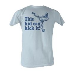 Karate Kid, The - Kick It Mens T-Shirt In Light Blue