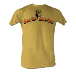 Karate Kid, The - Wax On Wax Off Mens T-Shirt In Mustard