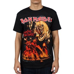 Iron Maiden - Number Of The Beast Mens T-shirt in Black