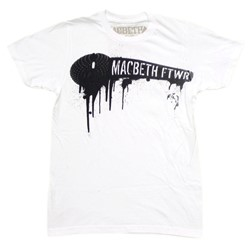 Macbeth & Dress Code Co-Lab Mens S/S T-Shirt In White By Macbeth
