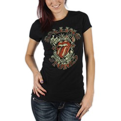 Rolling Stones - Womens Tattoo You Tour T-shirt in Black