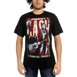 Johnny Cash - Nashville Adult T-Shirt in Black