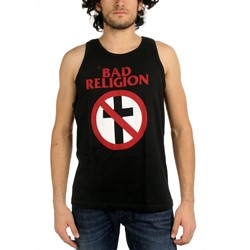 Bad Religion - Mens Distressed Crossbuster Tank Top