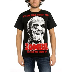 Zombie - All-Over Zombie Big Print Subway Mens T-Shirt In Black