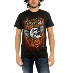 Avenged Sevenfold - Through The Fire Mens T-Shirt In Black