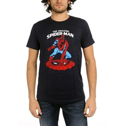 Spider-Man - Amazing Fitted Jersey S/S T-Shirt in Navy
