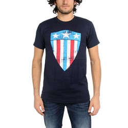 Captain America - First Shield Mens T-Shirt In Navy