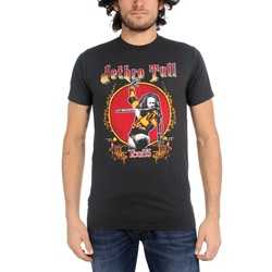 Jethro Tull -  Tour '75 Fitted Jersey S/S T-Shirt in Coal