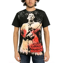 Texas Chainsaw Massacre - Full-Color Chainsaw Big Print Mens T-Shirt In Black