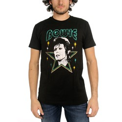 David Bowie - Mens Stars Fitted T-Shirt In Black