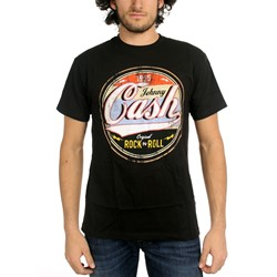Johnny Cash - Mens Original Rock-N-Roll  T-Shirt In Black