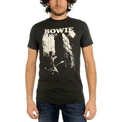 David Bowie - Guitar Mens T-Shirt In Coal