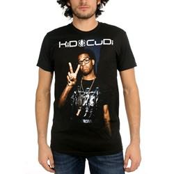 Kid Cudi - Peace Sign Photo Mens T-Shirt In Black