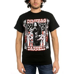 Dimebag Darrell - Mens Guitar Flag T-Shirt In Black