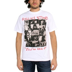Rolling Stones - Rescuer Collage Mens S/S T-Shirt In White