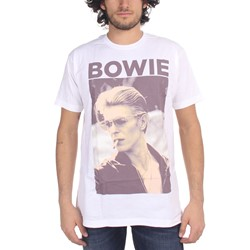 David Bowie - Mens Smoking T-Shirt In White