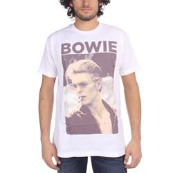 David Bowie - Mens Smoking T-Shirt In White