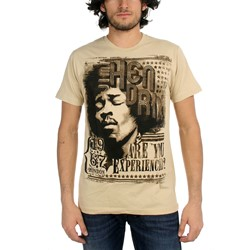 Jimi Hendrix - Experienced London Adult T-Shirt in Sand