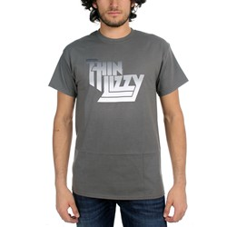 Thin Lizzy - Gradient Logo Mens T-Shirt In Charcoal