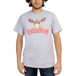 Vacation Wally - Mens World Logo T-Shirt In Med Gray