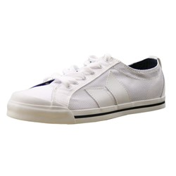 Eliot White/White Canvas/Nylon Mens Shoes by Macbeth Footwear
