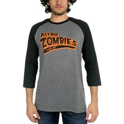 The Misfits - Mens Astro Zombies Baseball T-Shirt In Heather Grey/Black