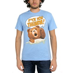Ted - Mens F*Ck You Thunda! T-shirt in Blue