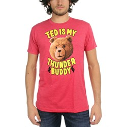Ted - Mens Ted Is My Thunder Buddy T-shirt in Red