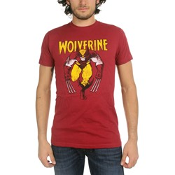 Wolverine On Red Mens T-Shirt In Vintage Red